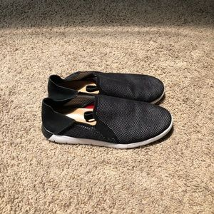 UGG black slip-on shoes